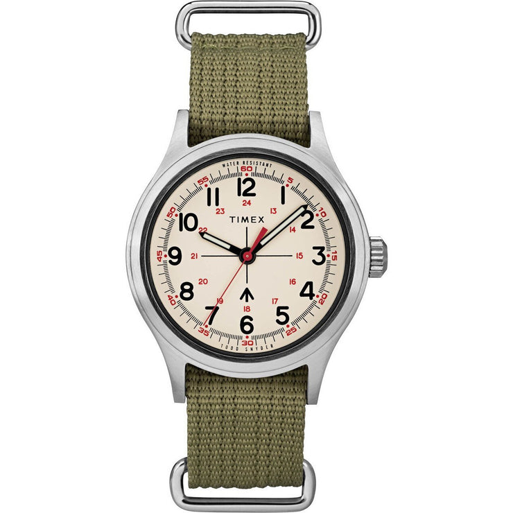 Timex Todd Snyder Military Silver Olive
