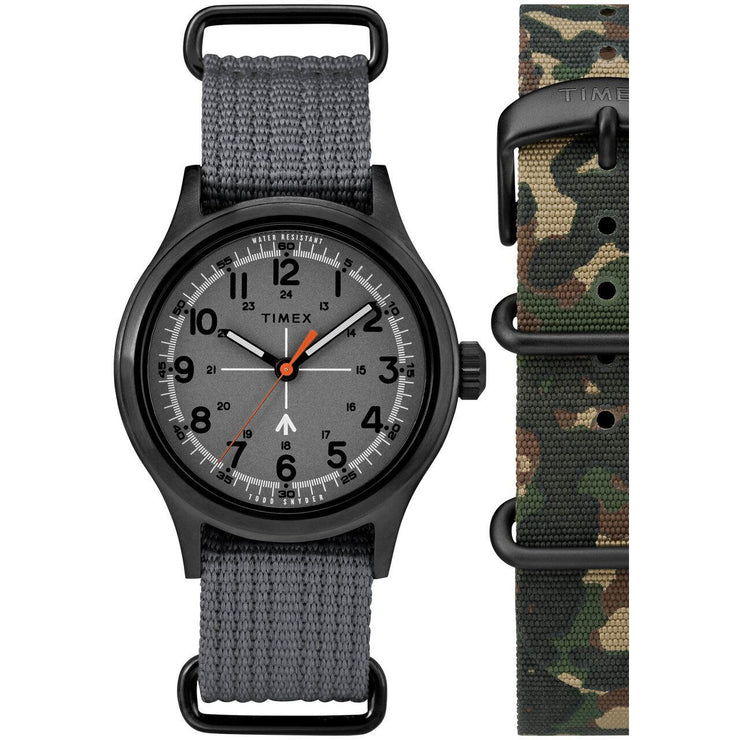 Timex Todd Snyder Military Gunmetal Grey Gift Set