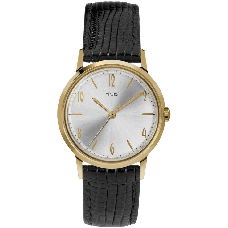 Timex Marlin Mechanical 34mm Gold Black
