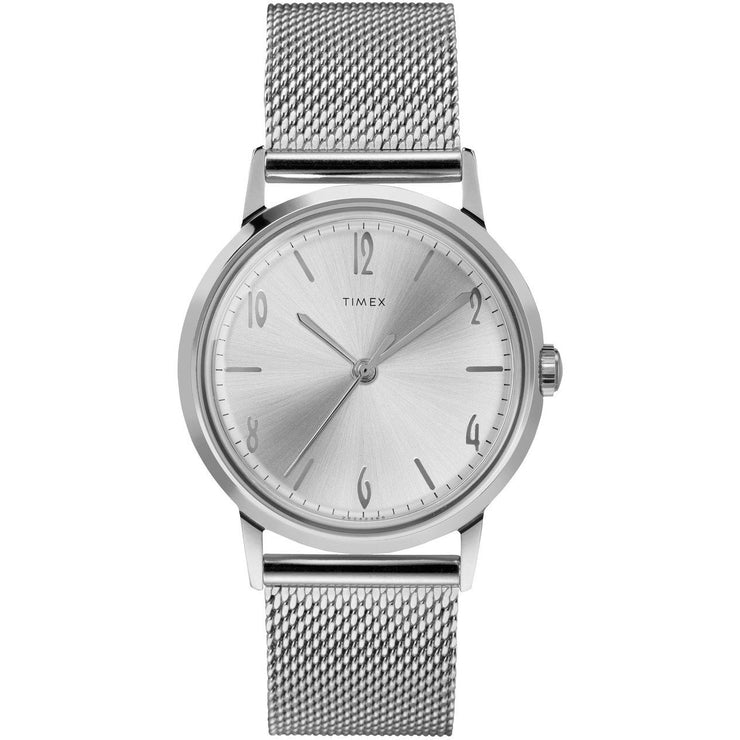 Timex Marlin Mechanical 34mm SS Silver