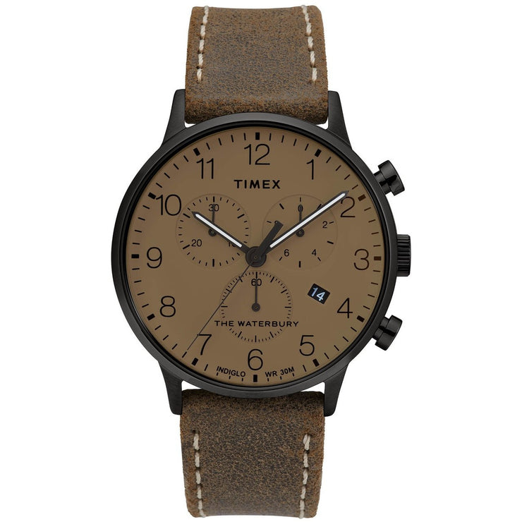 Timex Waterbury Classic Chronograph 40mm Brown Black