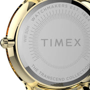 Timex Transcend 38mm Gold White Mesh