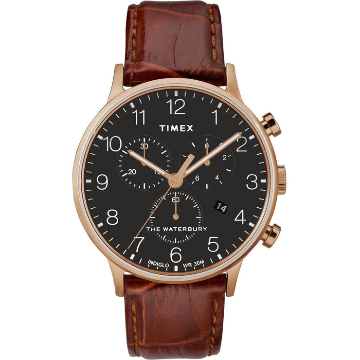 Timex Waterbury Classic Chrono Rose Gold Brown