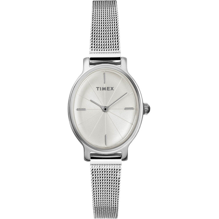 Timex Milano Oval 24MM Silver Mesh