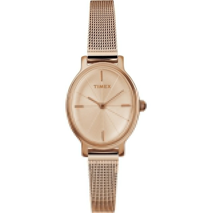 Timex Milano Oval 24MM Rose Gold Mesh