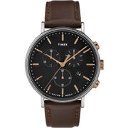 Timex Fairfield Chrono Silver Brown