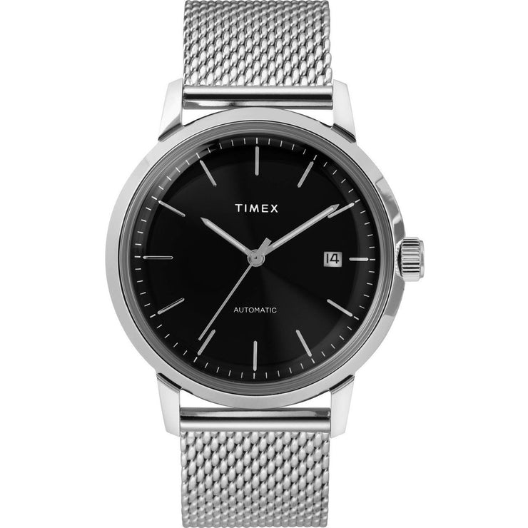 Timex Marlin 40mm Automatic Mesh Silver Black