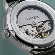 Timex Marlin 40mm Automatic Burgundy Silver