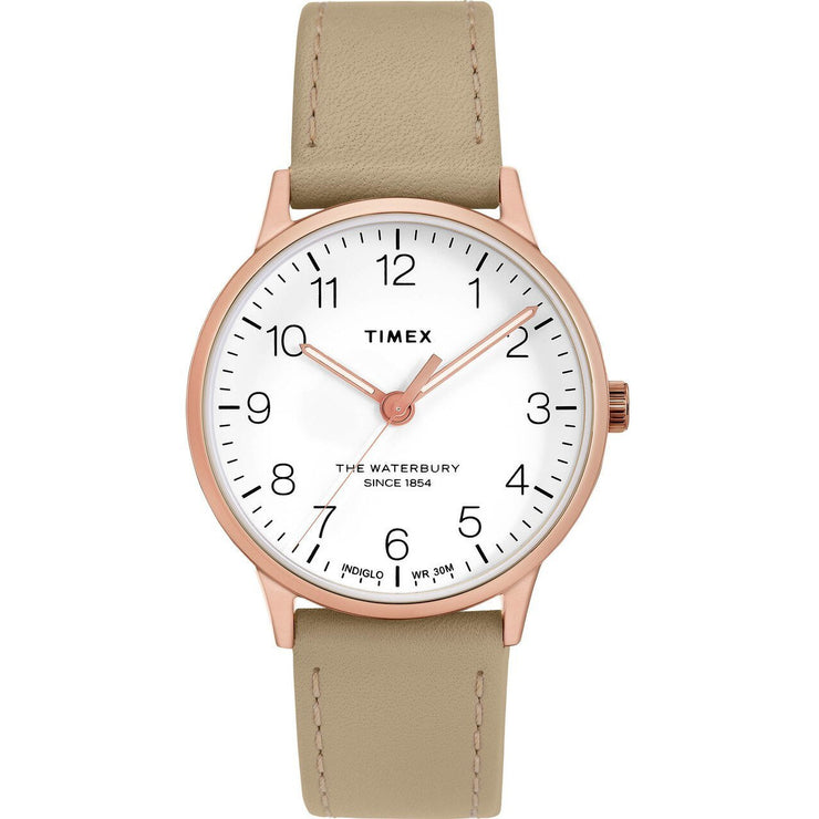 Timex Waterbury Classic 36mm Rose Gold Natural