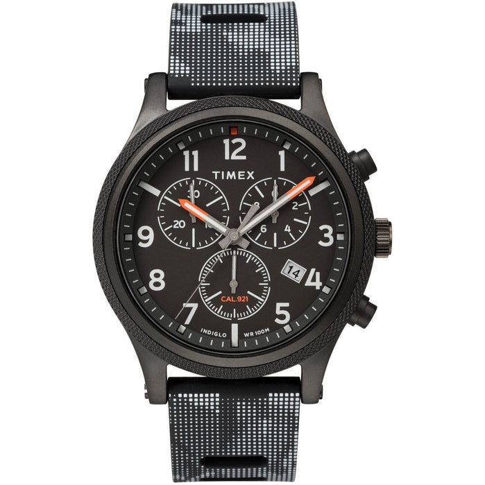 Timex Allied LT Chrono Indiglo All Black angled shot picture