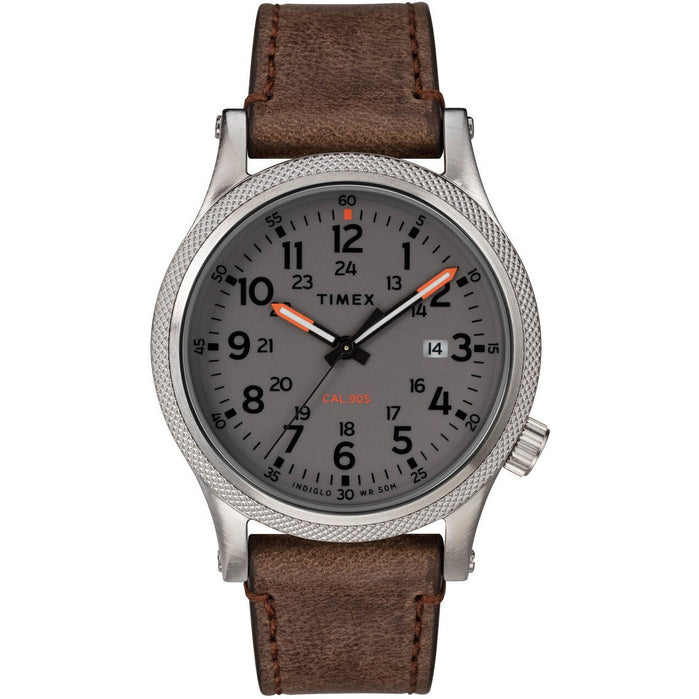 Timex Allied LT Indiglo Brown Grey angled shot picture