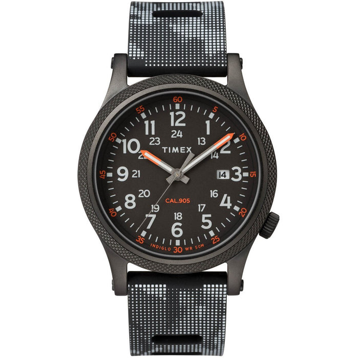Timex Allied LT Indiglo All Black angled shot picture