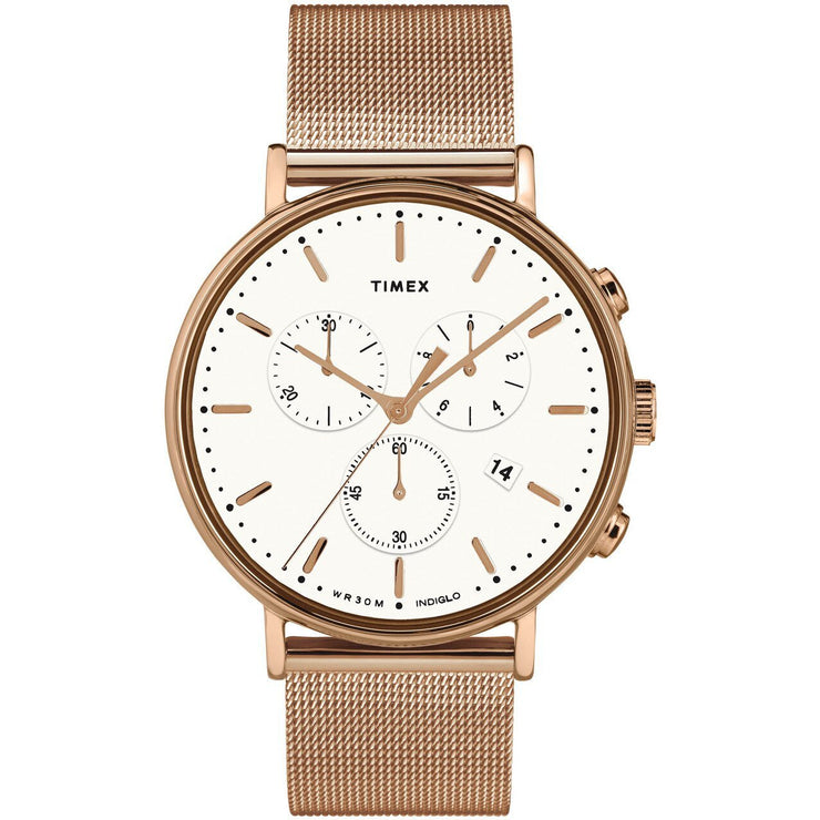 Timex Fairfield Chrono Rose Gold Mesh