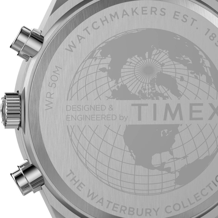 Timex Waterbury Traditional Chronograph 42mm Black Silver SS