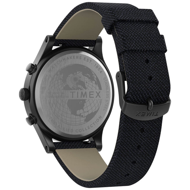 Timex Allied LT Chronograph 42mm Gunmetal Blue
