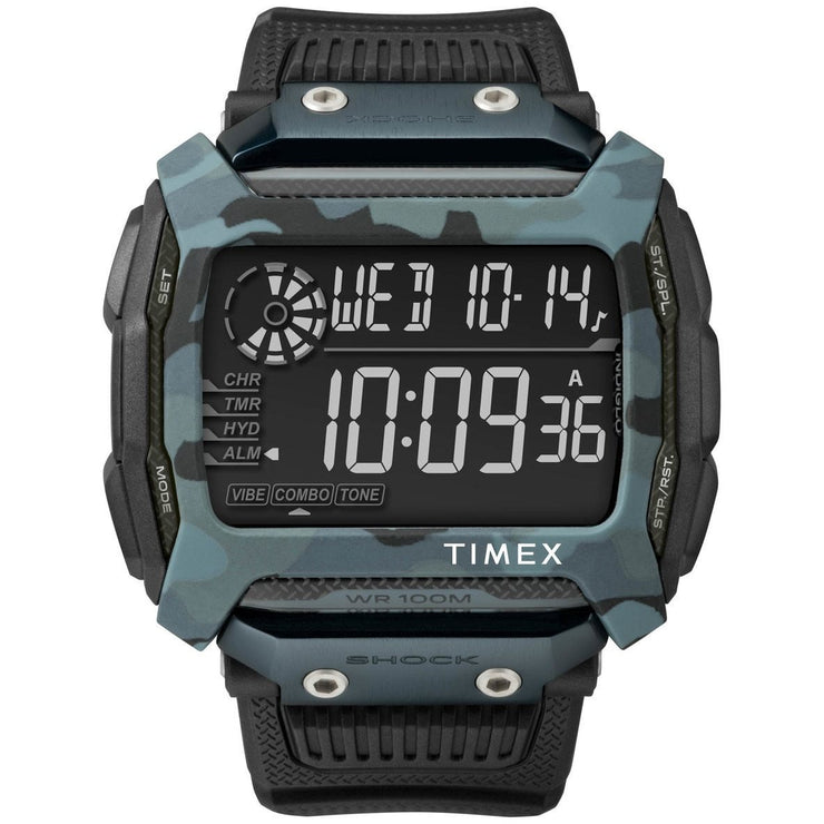 Timex Command Shock Digital Black Blue Camo