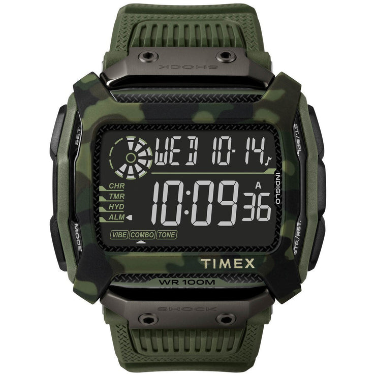 Timex Command Shock Digital Green Camo