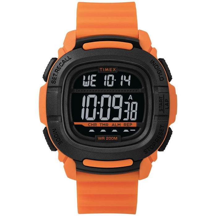 Timex Boost Digital Orange Black angled shot picture