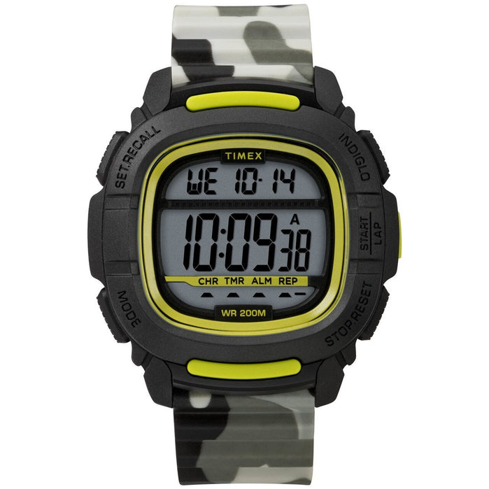 Timex Boost Digital Black Green Camo angled shot picture