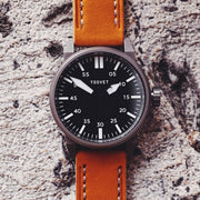 Tsovet SVT-FW44 Swiss Field Watch Gunmetal Tan
