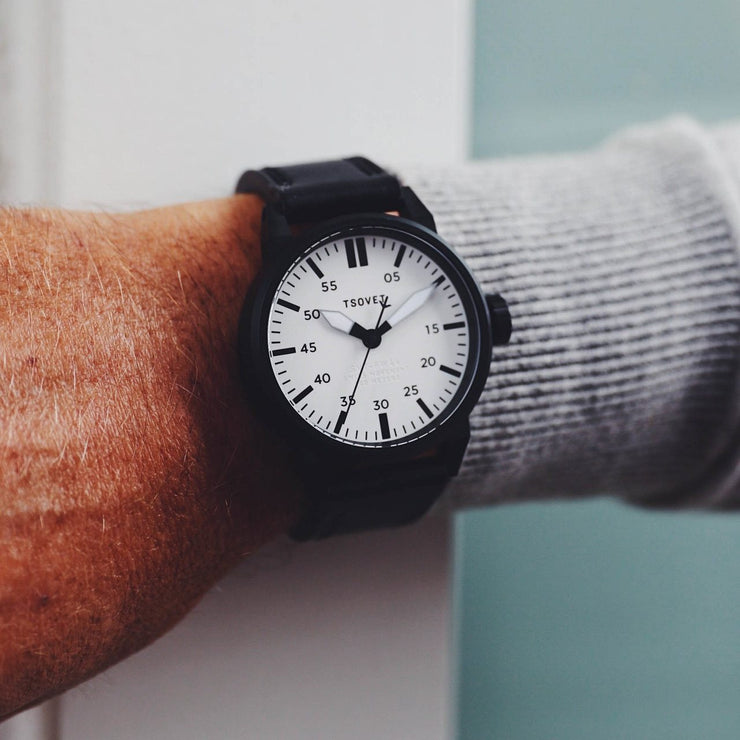 Tsovet SVT-FW44 Swiss Field Watch Black White