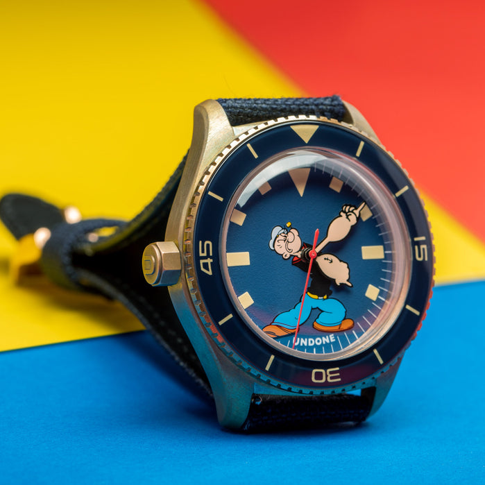 Undone Popeye & Friends Destro Popeye Automatic Limited Edition angled shot picture