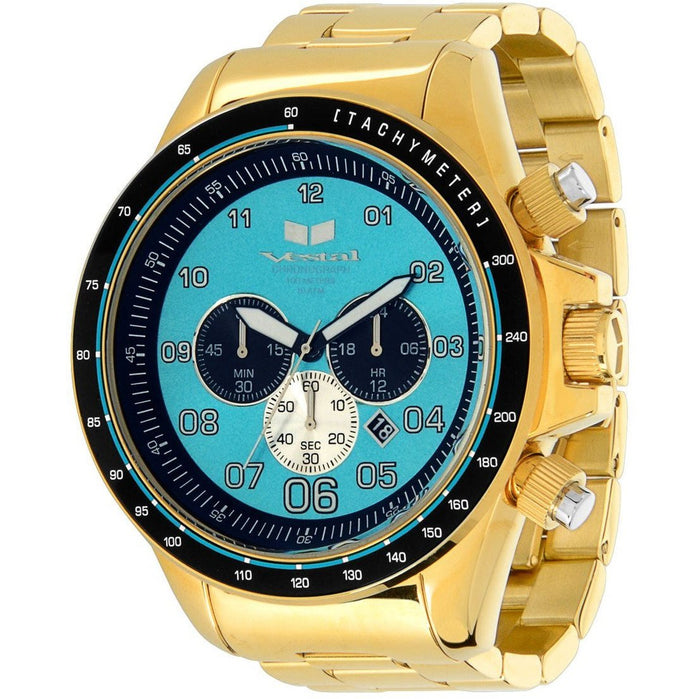Vestal ZR3030 ZR-3 XL Polished Gold/Teal angled shot picture