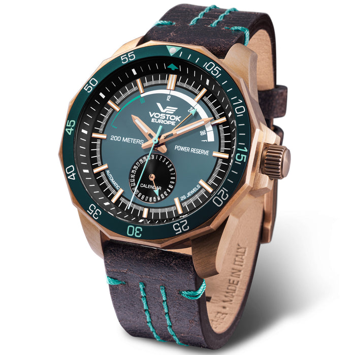 Vostok-Europe N1 Rocket Automatic Bronze Blue angled shot picture