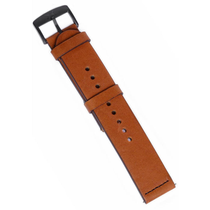 Xeric 22mm Smooth Saddle Leather Strap angled shot picture