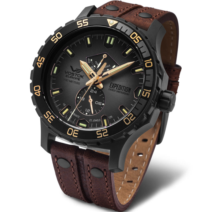Vostok-Europe Expedition Everest Underground Automatic Brown Black angled shot picture