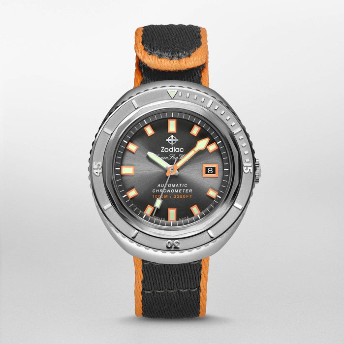 Zodiac ZO9507 Super Sea Wolf 68 Automatic Gunmetal Limited Edition angled shot picture