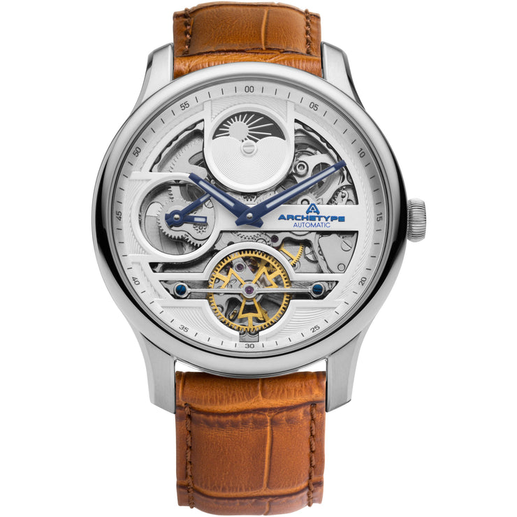 Archetype Archer Automatic Silver Tan White