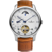 Archetype Dorian Automatic Silver Tan White