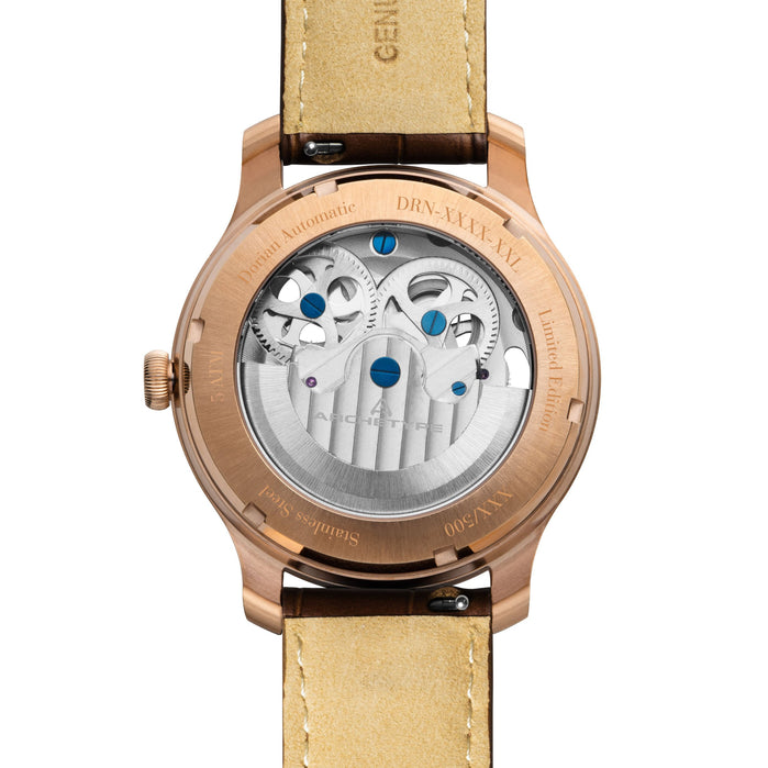 Archetype Dorian Automatic Rose Gold White angled shot picture