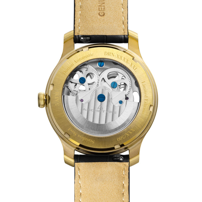 Archetype Dorian Automatic Gold Black angled shot picture