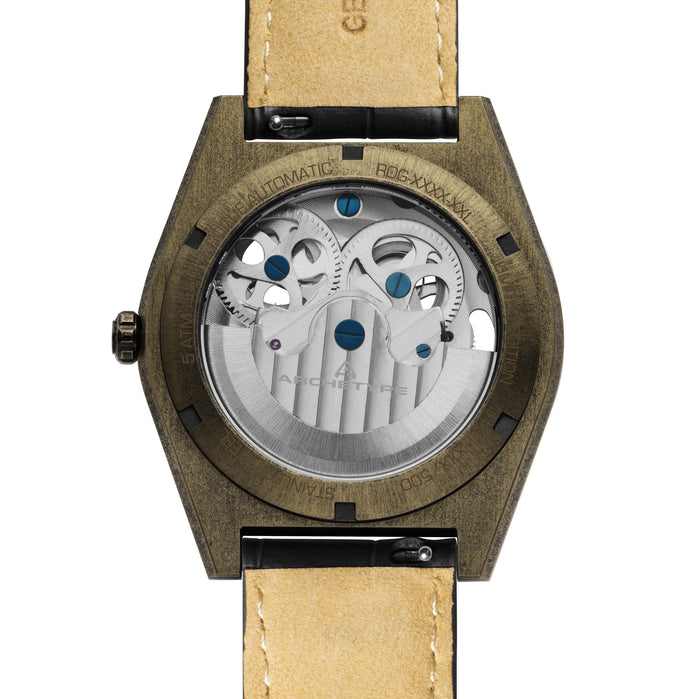 Archetype Rogue Automatic Antique Brass Black angled shot picture