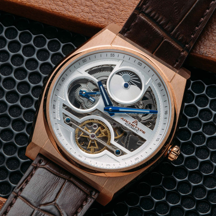 Archetype Rogue Automatic Rose Gold Brown White