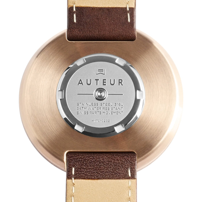 Auteur Revolution IV Rose Gold Walnut angled shot picture