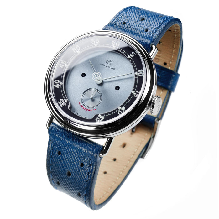 Autodromo Intereuropa Hand Wind Silver Blue angled shot picture