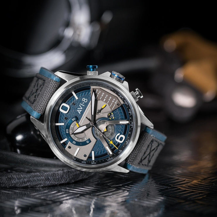AVI-8 Hawker Harrier II AV-4056-01 Silver Blue