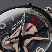 AVI-8 Hawker Harrier II Dual Retrograde Chrono Desert Brown