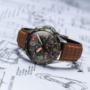 AVI-8 P-51 Mustang Blakeslee Chrono Black Brown