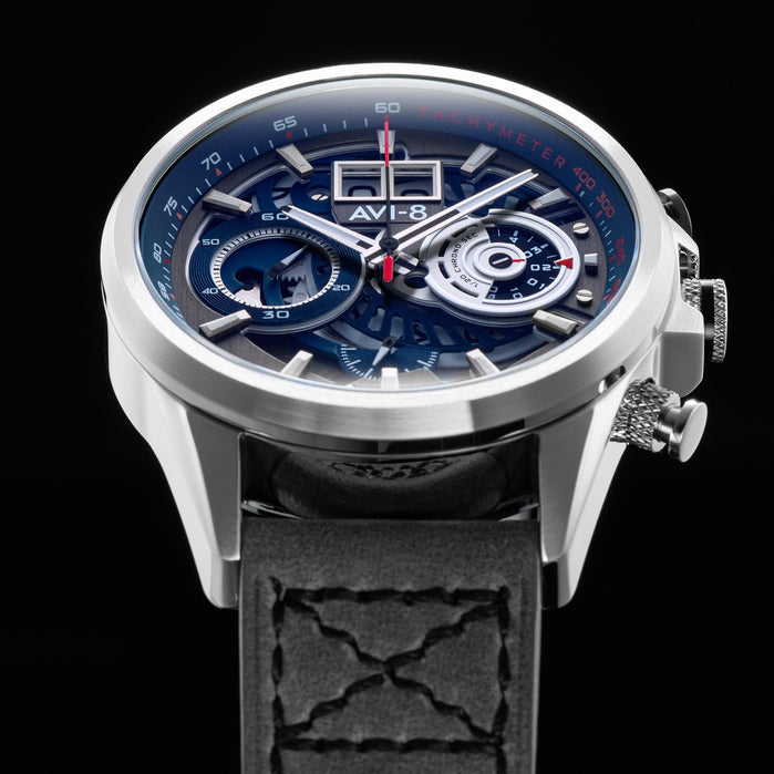 AVI-8 Hawker Harrier II Matador Chronograph Black Grey angled shot picture