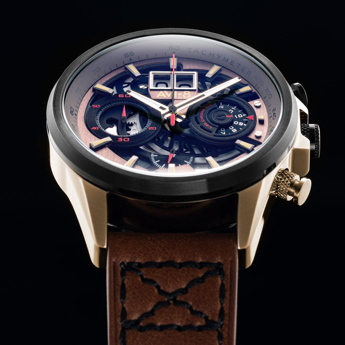 AVI-8 Hawker Harrier II Matador Chronograph Brown angled shot picture