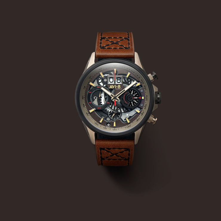 AVI-8 Hawker Harrier II Matador Chronograph Brown