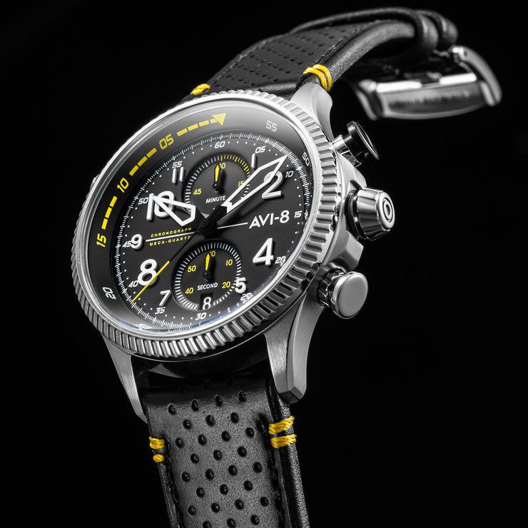 AVI-8 Hawker Hunter Duke Chrono Halton Black Yellow