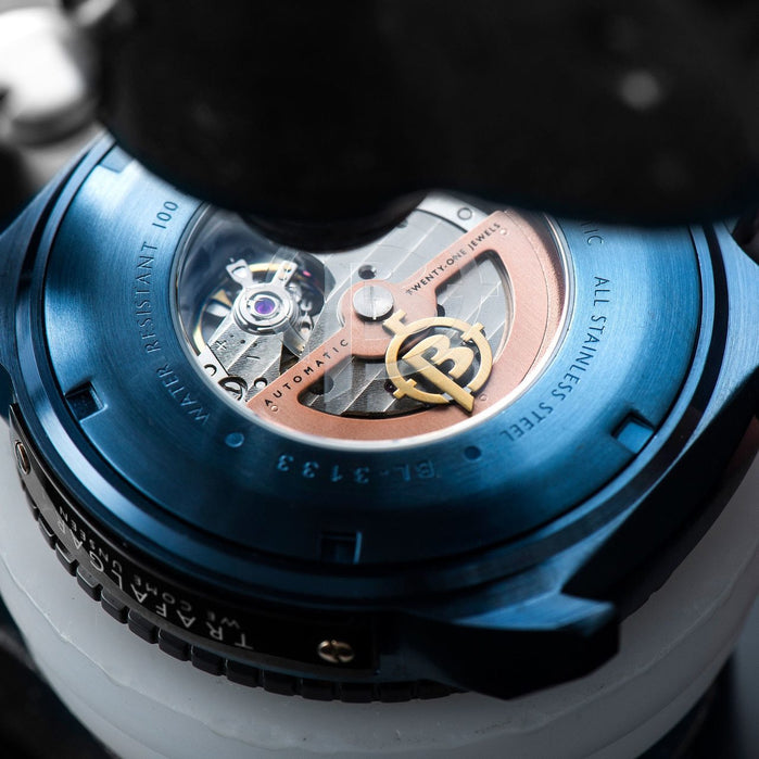 Ballast Trafalgar Automatic Blue Silver angled shot picture