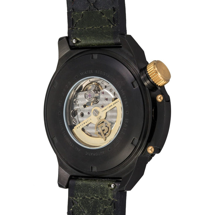 Ballast Trafalgar Automatic Black Gold Green angled shot picture