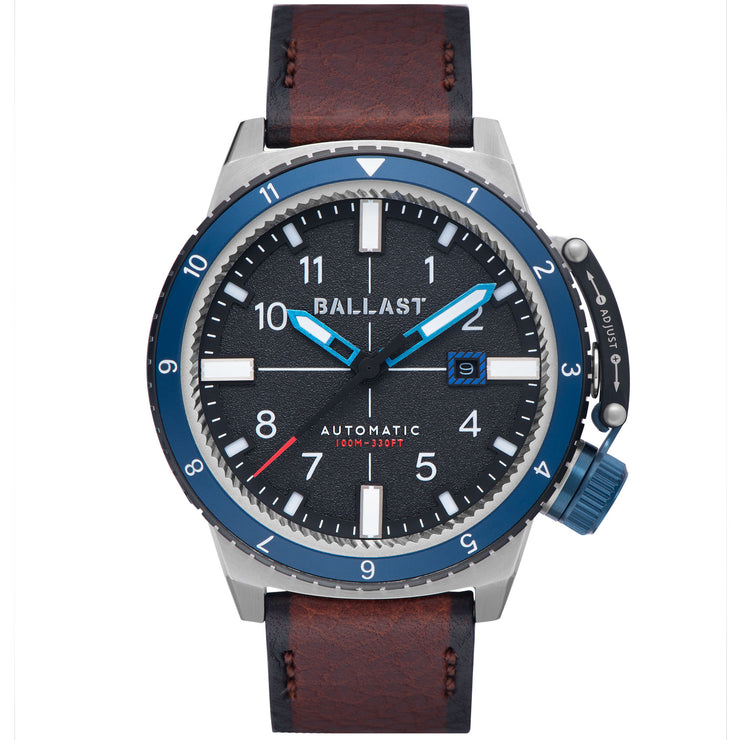 Ballast Trafalgar Dual Time Automatic Blue Brown