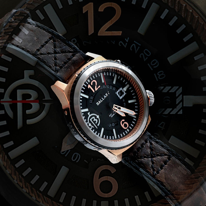 Ballast Trafalgar Automatic Brown/Rose Gold angled shot picture